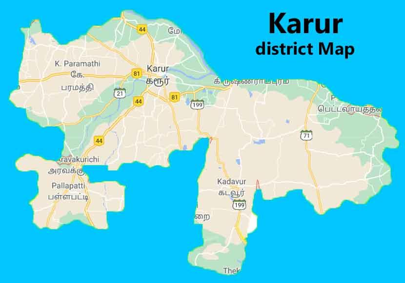 karur district map