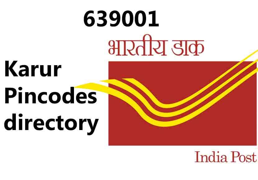 karur pincode 639001 pincodes